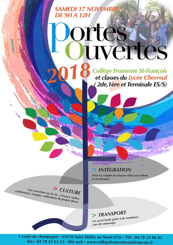 JOURNÉE «PORTES OUVERTES» AU COLLÈGE FROMENTE !