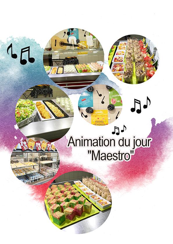 Animation restaurant scolaire du 20 Mai » MAESTRO»